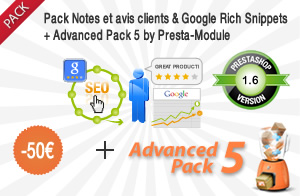 Avis clients, Rich Snippets + Advanced Pack
