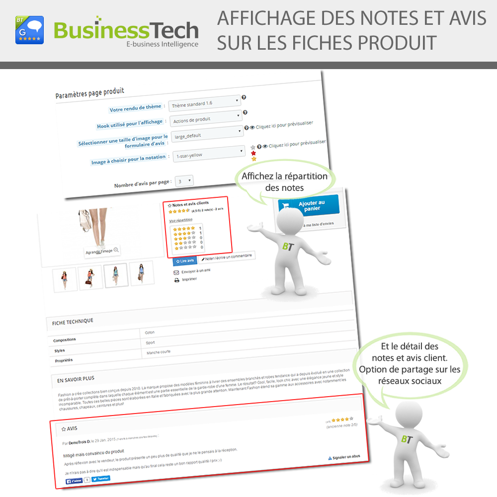 Notes & Avis Clients Pro + Google Rich Snippets